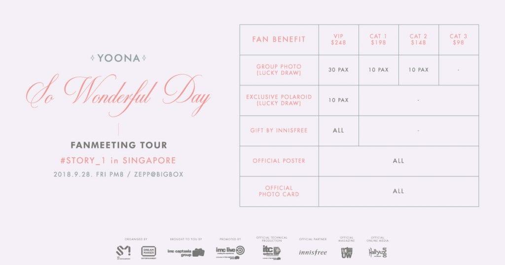 yoona singapore fan meeting benefits