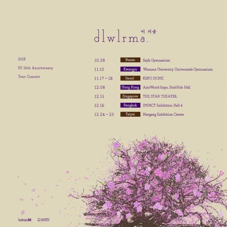 IU 10th anniversary tour concert singapore dlwlrma