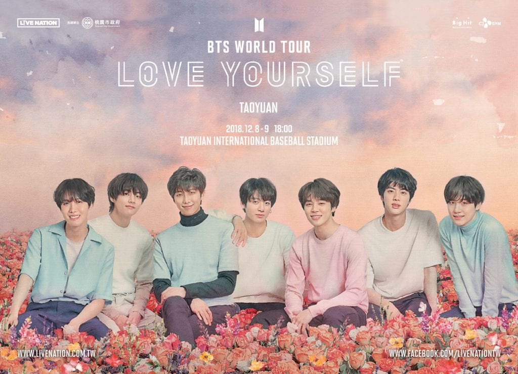 bts love yourself world tour in taiwan