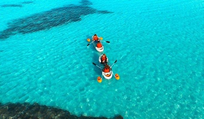 kayaking in jeju