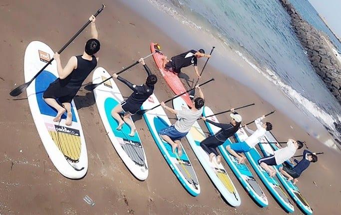 paddle boarding in jeju