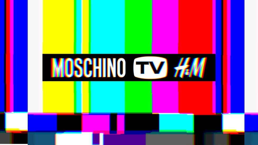 moschino tv h&m collaboration