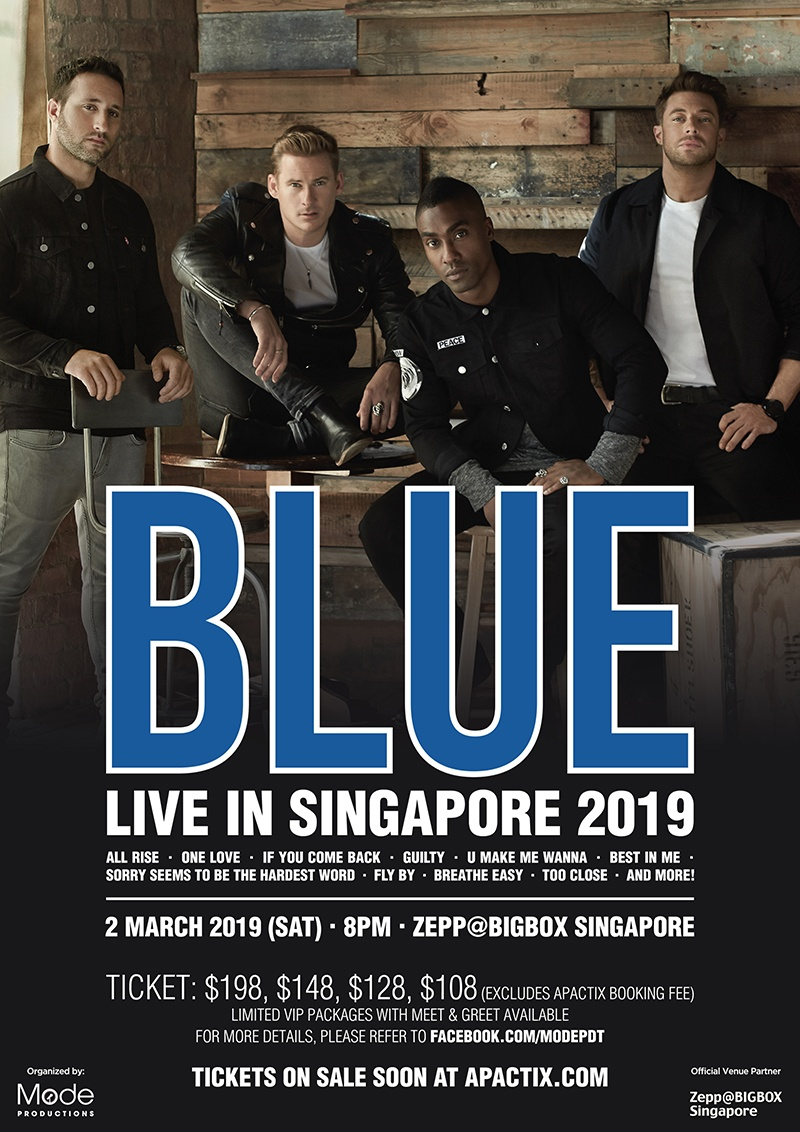 [EVENT] All Rise! Catch Blue Live in Singapore 2019