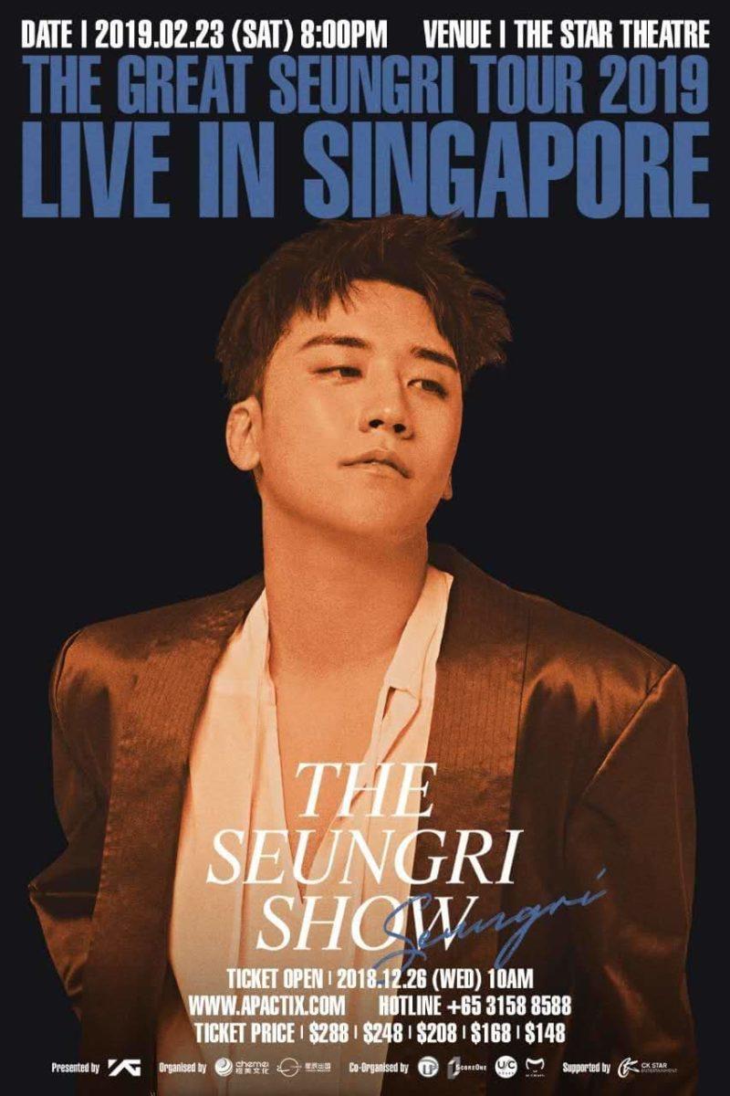 [EVENT] Catch Seungri's last Singapore concert before his enlistment!