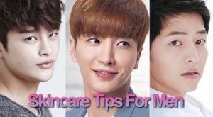 korean skincare tips for men