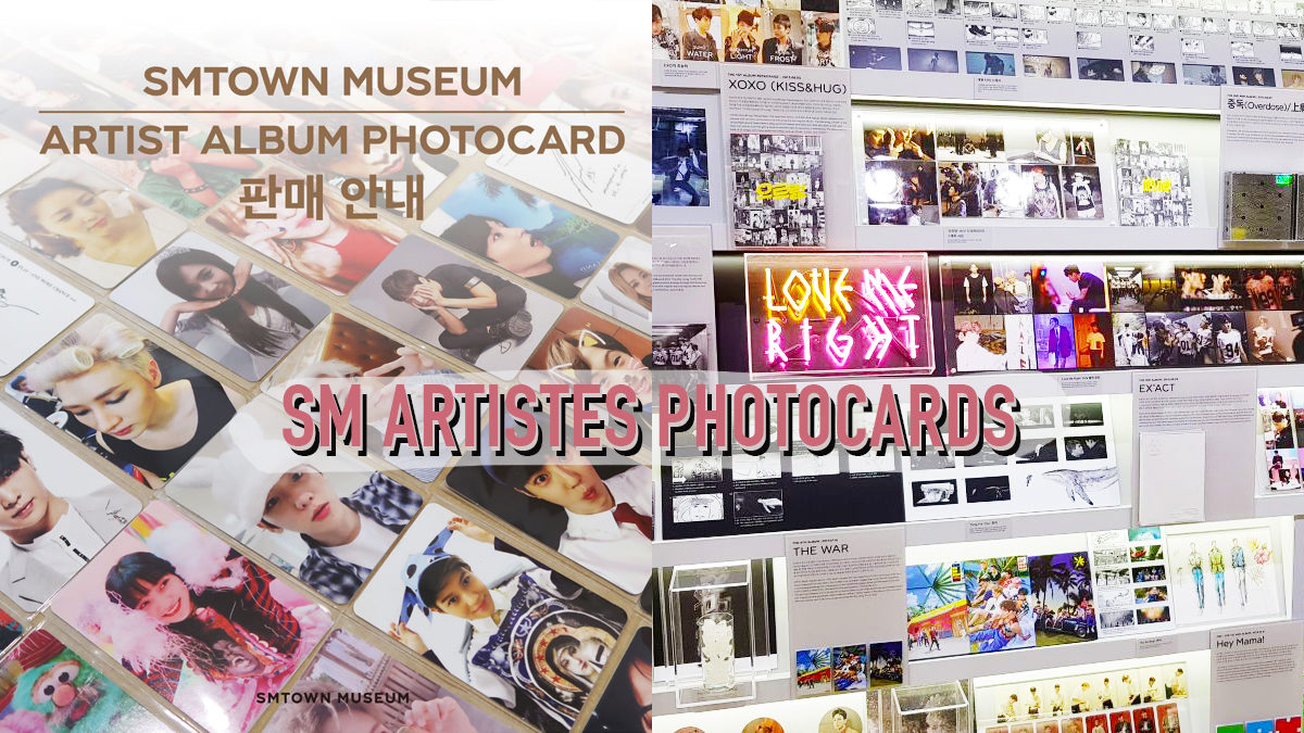 Buy SM artist album photocards at SMTOWN Museum!