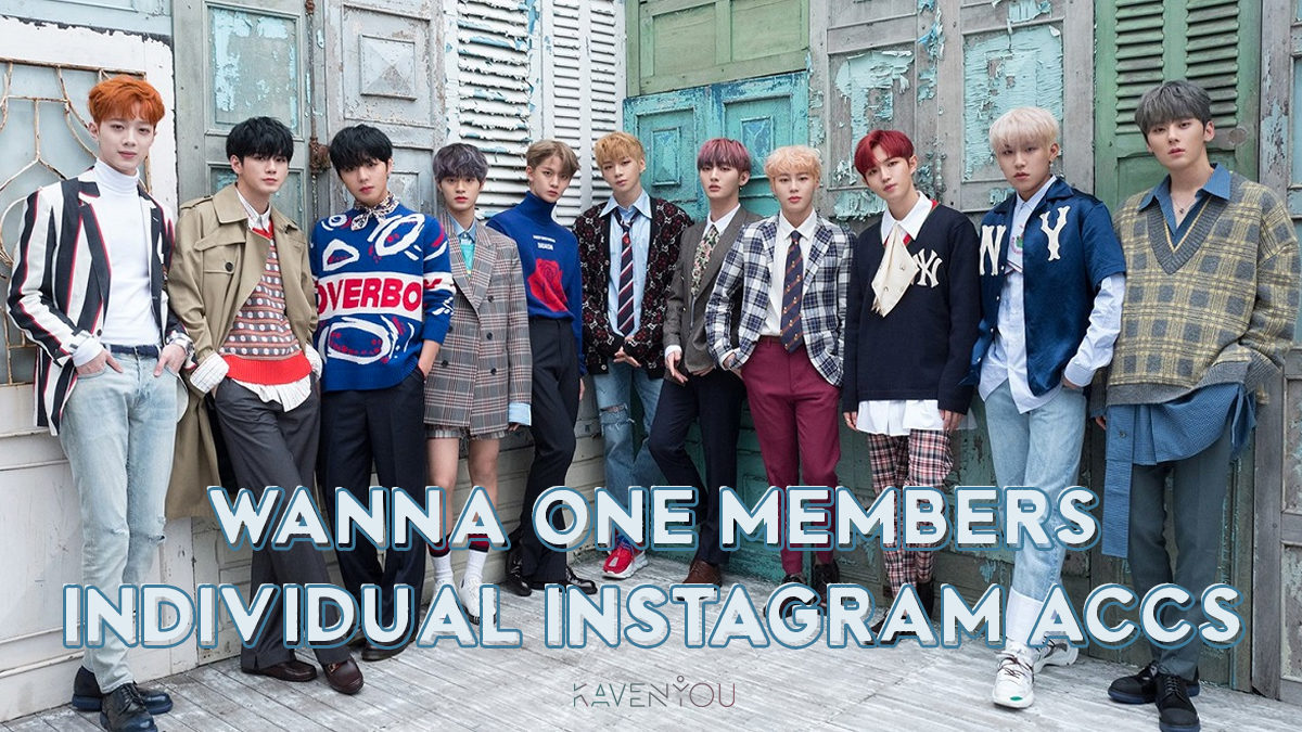 [COMPILATION] Wanna One members' individual Instagram accounts
