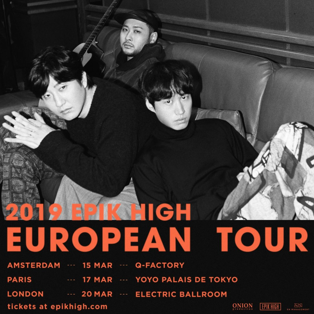 EPIK HIGH to tour Europe in March 2019