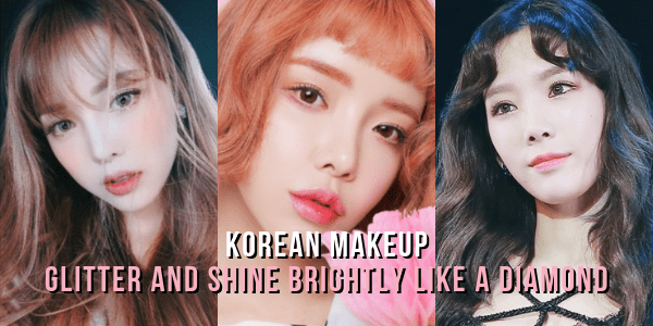 Korean Makeup Glitter and Shine k beauty style