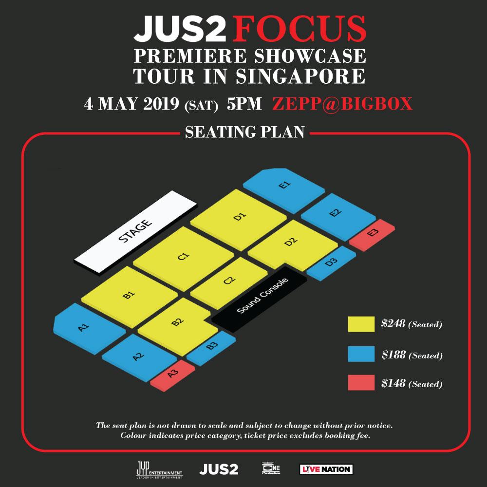 Hottest unit Jus2 <FOCUS> PREMIERE SHOWCASE TOUR comes to Singapore