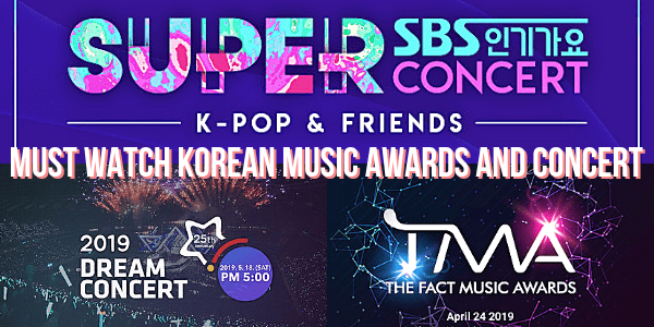 MORE must watch Korean music awards and concerts in 2019