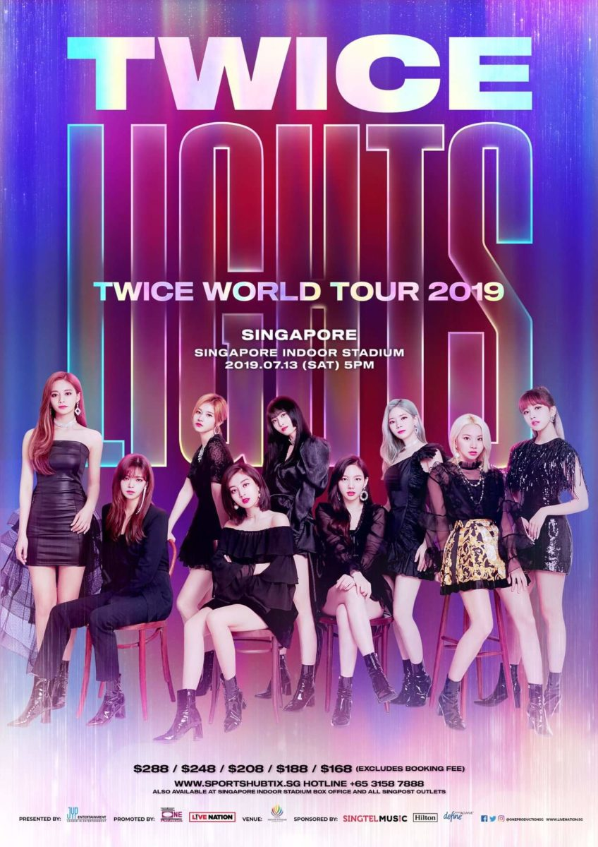 """TWICELIGHTS"" TWICE World Tour 2019 will shine upon Singapore"