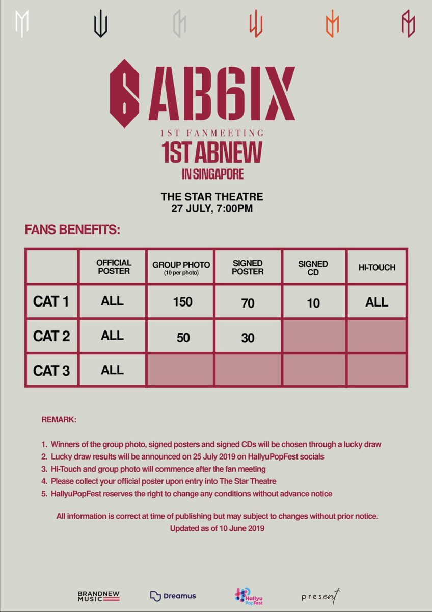 ab6ix singapore fanmeeting tickets