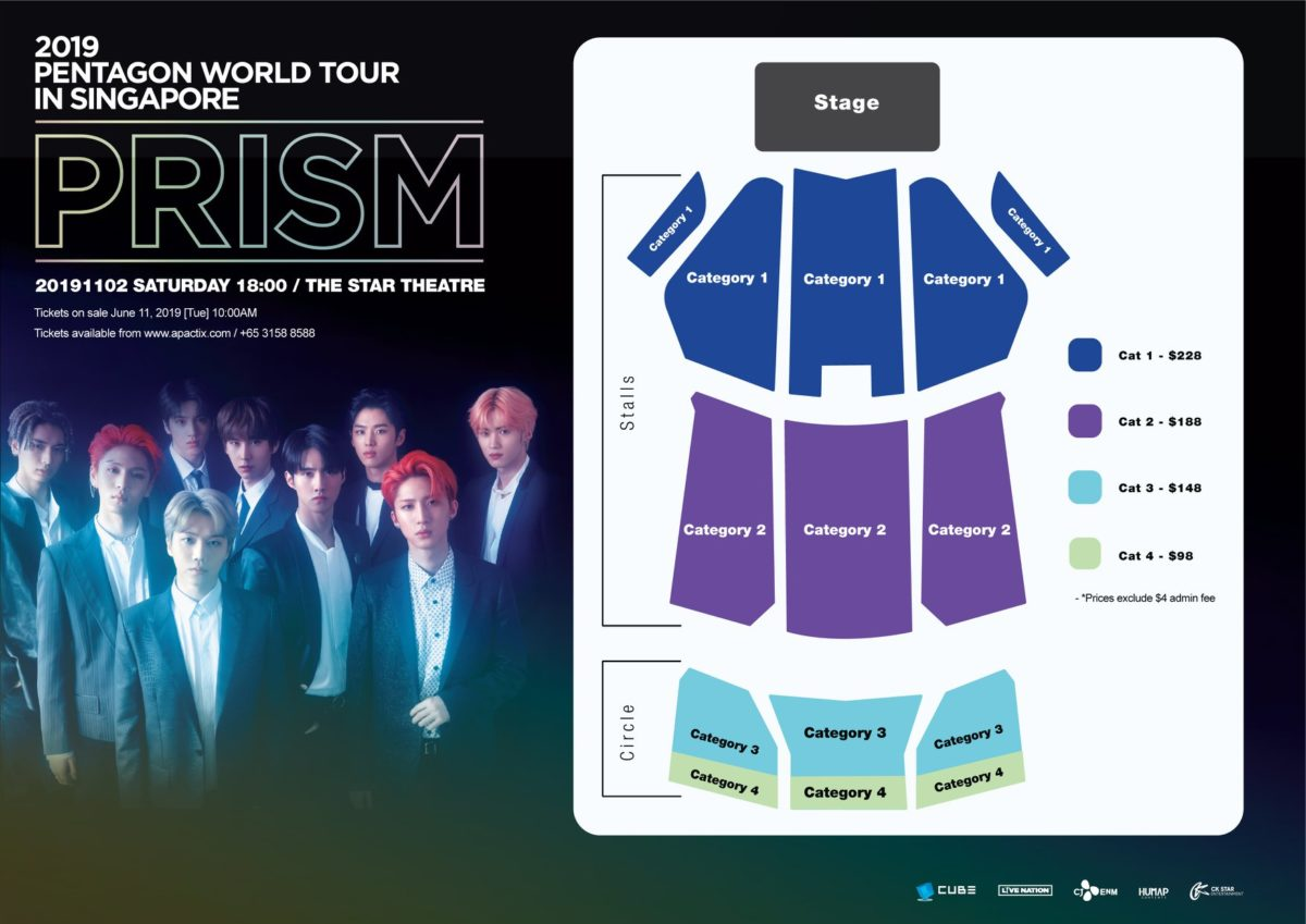"PENTAGON to make last stop of 2019 World Tour ""PRISM"" concert in Singapore"