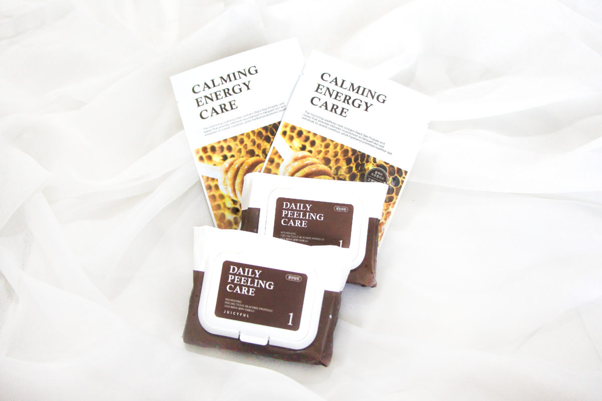 Juicyful cleansing care black bee propolis peeling tissues and sheet masks