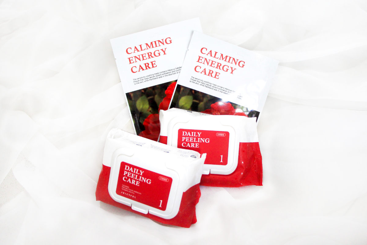 Juicyful cleansing care hibiscus peeling tissues and sheet masks