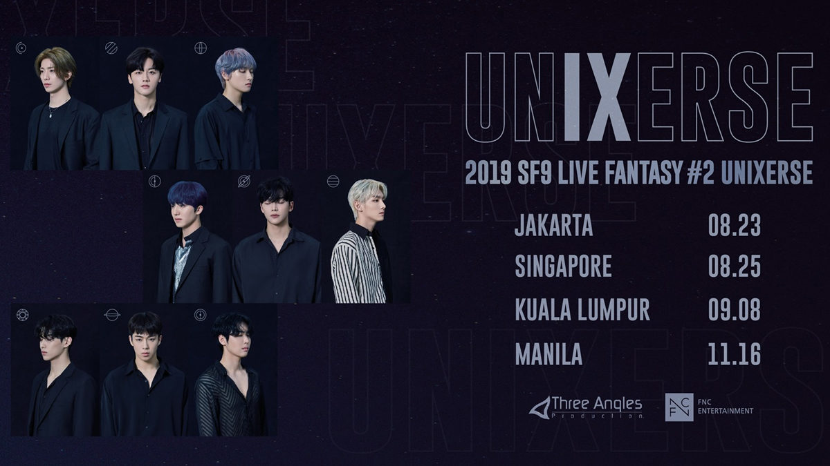 [CANCELLED] SF9 to meet Singapore Fantasy at 2019 SF9 LIVE FANTASY #2 UNIXERSE concert tour