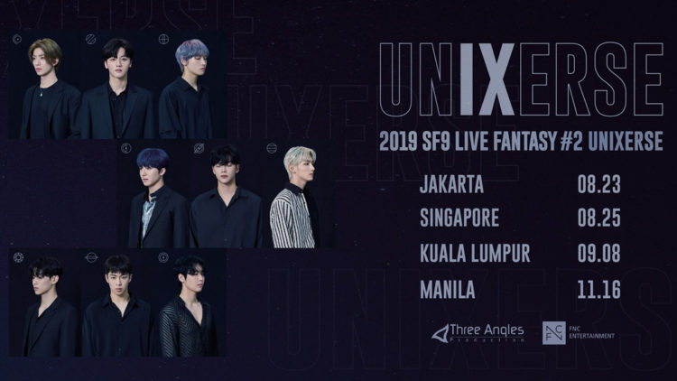 SF9 to meet Singapore Fantasy at 2019 SF9 LIVE FANTASY #2 UNIXERSE concert tour