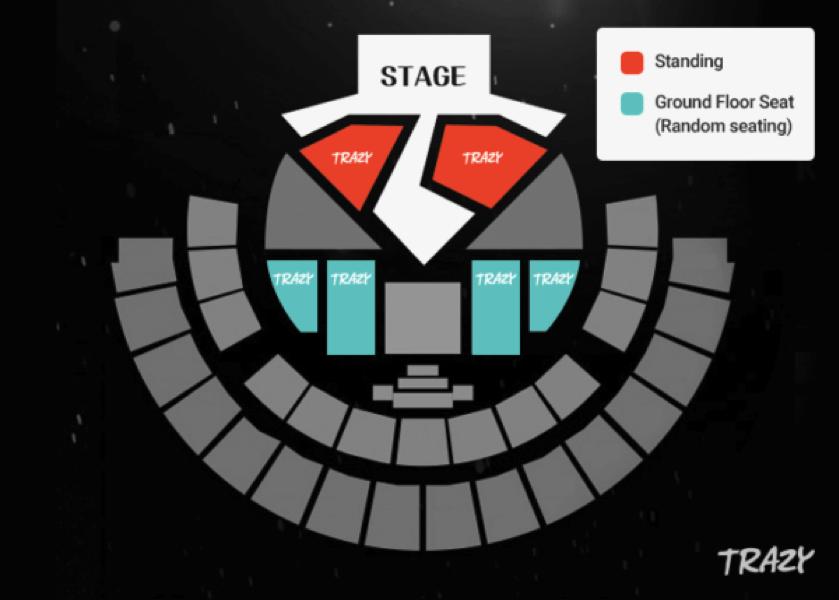 Soribada Best K-Music Awards 2019 Seating Plan
