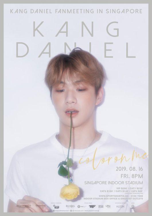 kang daniel fanmeeting singapore poster