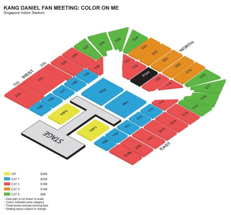 kang daniel fanmeeting singapore seat map