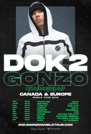 korea hip hop DOK2 world tour 2019 thunderground canada europe