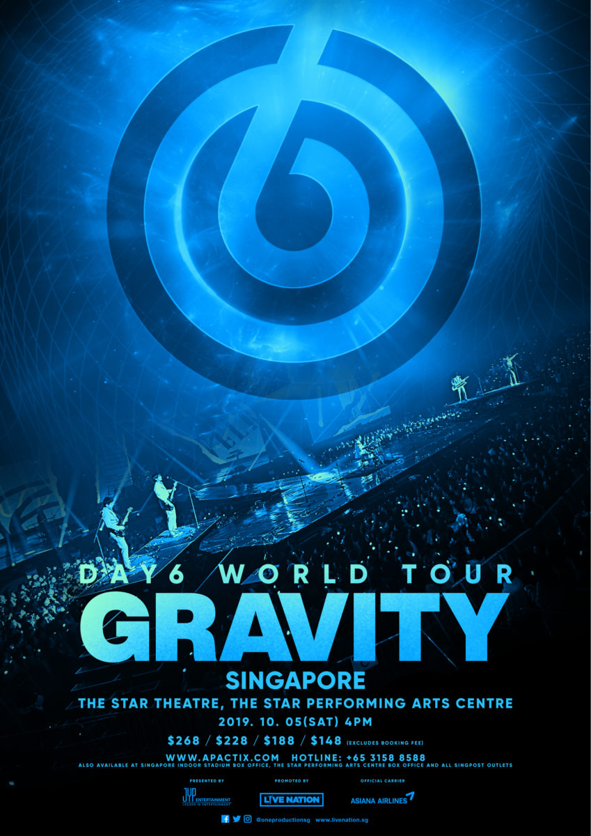 "K-pop rock sensation DAY6 to stage first concert ""GRAVITY"" in Singapore"