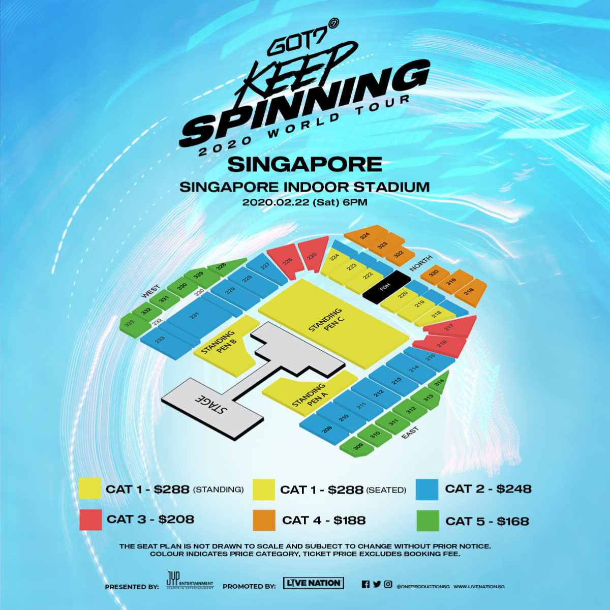 "[POSTPONED] GOT7 ""Keep Spinning"" World Tour is spinning into Singapore in 2020"