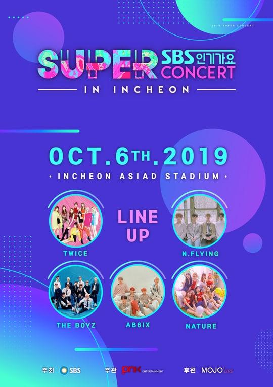 sbs super concert in incheon 2019 lineup