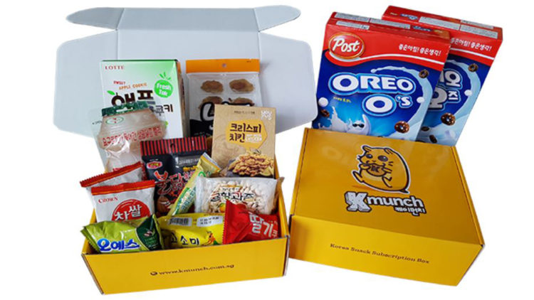 Korean snack subscription box christmas gift k-pop