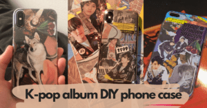 DIY your phone case with K-pop albums